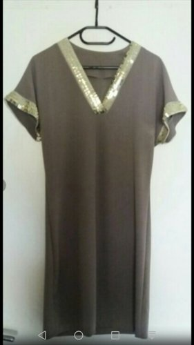 0039 Italy Sequin Dress taupe