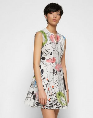 Neues Kleid Paul & Joe Sister, Größe 40(M/L), Farbe: Weiß/Schwarz;