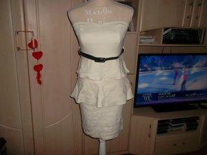 neues kleid,schulterfrei.gr. 38.weiß/vanille