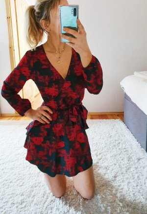 NEUES Kleid Volant Blumendruck Floralprint Trend Blogger Musthave