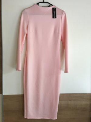 Lookbookstore Abito aderente color carne-color oro rosa
