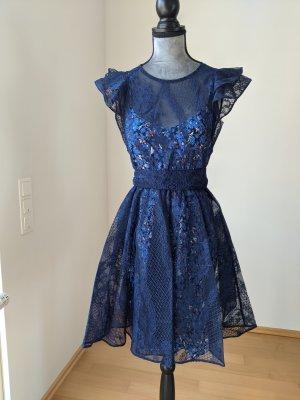 Maje Lace Dress blue