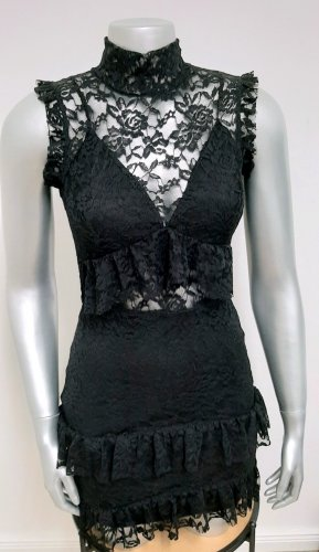 Neues Kleid von missguided gr. 36 uk 8 petite minikleid spitze schwarz