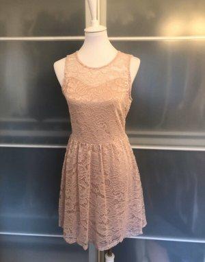 Neues Kleid von Only M Rosa Rose mit Spitze