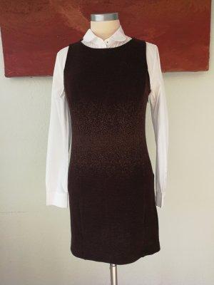 Patricia Pepe Vestido de lana marrón-negro Lana