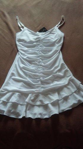 Apart Vestido de tela de sudadera blanco