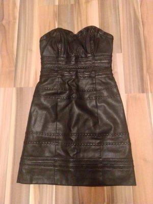 Guess Leren jurk zwart Imitatie leer