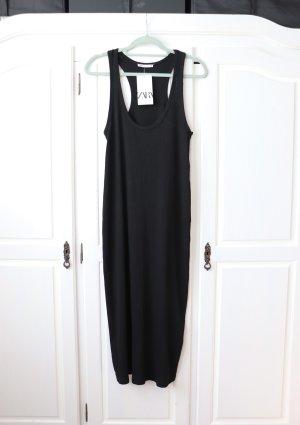 Neues langes Maxi Kleid von Zara Größe S 36 38 mit Ringerrücken