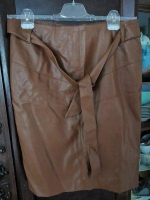 Orsay Spódnica z imitacji skóry jasnobrązowy
