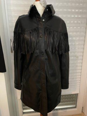 Nakd Robe en cuir noir