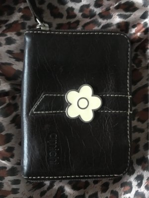 amichi Wallet dark brown-oatmeal leather