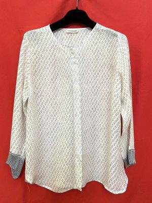 Custommade Shirt Blouse natural white-black silk