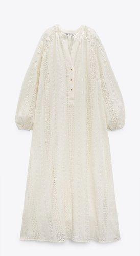 Neues lockeres besticktes Kleid von Zara Größe XS S M Boho Vintage aktuelle Kollektion