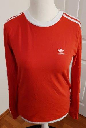 neues longshirt von adidas rot weiß gr 36