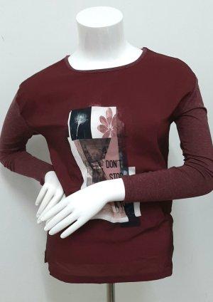 Neues Longsleeve Gr S Bordeaux bluse upFashion Langarmshirt shirt