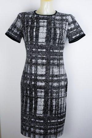DKNY Jurk met korte mouwen zwart-wit