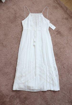 Neues Maxi Kleid von Zara Größe M 38 Boho Stickerei