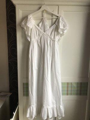 Alexander McQueen Maxi-jurk wit Katoen
