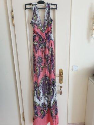 Mango Halter Dress multicolored
