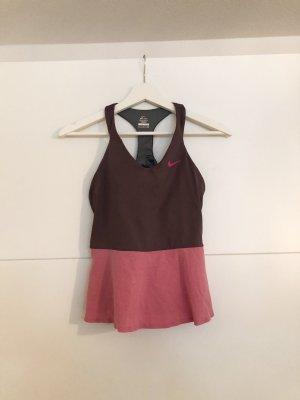 Nike Top z odkrytymi plecami różowy-purpurowy