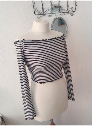 H&M Koszulka w paski biały-czarny