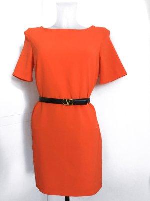 Jurk met korte mouwen oranje-neonoranje