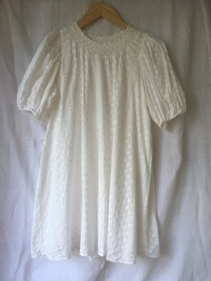 & other stories Robe Babydoll blanc coton