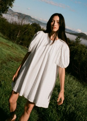 & other stories Babydoll Dress white cotton
