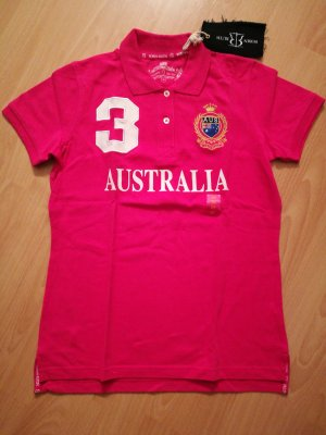 Neues pinkfarbenes Polo-Shirt von Robin Ruth