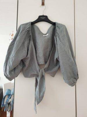 Maglietta aderente verde-grigio