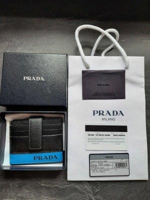 Prada Card Case black-neon blue