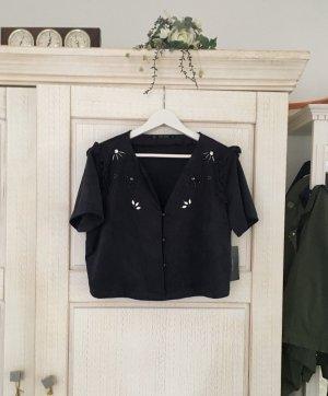 Neues Rauleder Crop Top von Zara, mit Etikett