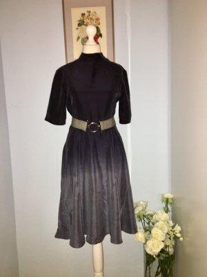 Wood Wood Midi Dress anthracite-dark grey silk