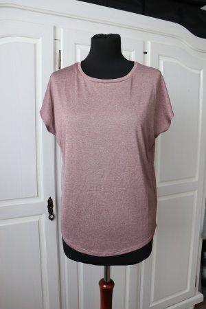 Neues rosa meliertes Sport Shirt von H&M Größe S 36 38