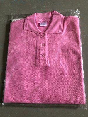 Koszulka polo różowy neonowy Bawełna