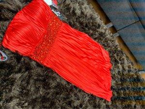Laura Scott Bandeaujurk rood-donkerrood