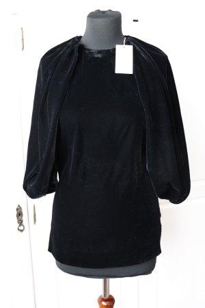 Neues Samt Shirt Oberteil von Cos Größe 38 in schwarz Velvet Cape