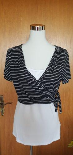 NEUES schwarz-weißes Shirt Gr. XL