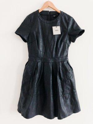 Asos Robe en cuir noir