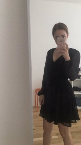 Asos Vestido de chifón negro