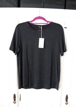 Neues schwarzes dunkles Shirt von Cos Größe M 38 Cupro