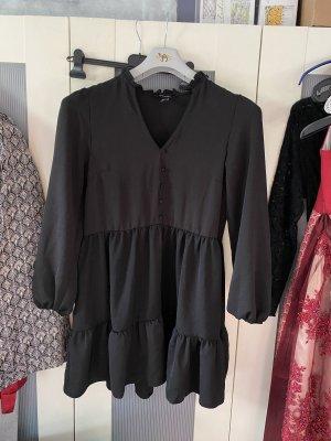 *NEUES* Schwarzes Kleid mit Volants und Rüschen