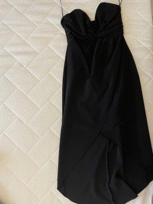 Neues schwarzes schulterfreies Kleid