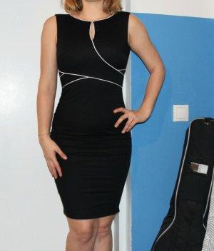 Orsay Sheath Dress black-white cotton