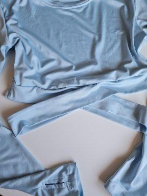 Zalando Cropped Shirt baby blue-azure