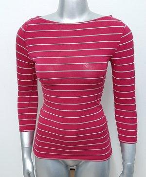 Neues Shirt Gr. XS von Amisu cerise gestreift longsleeve
