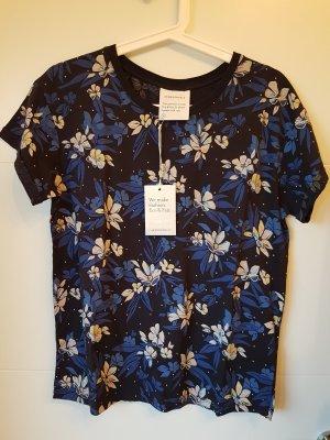 armedangels T-shirt imprimé rosé-bleu foncé