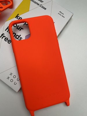 Neues Silicon Case mit verstellbaren Band in der Farbe Neon Orange