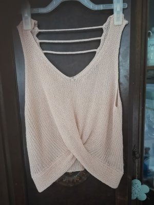 ZU Knitted Top nude wool