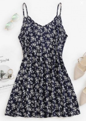 Neues Sommerkleid mit Blümchen L